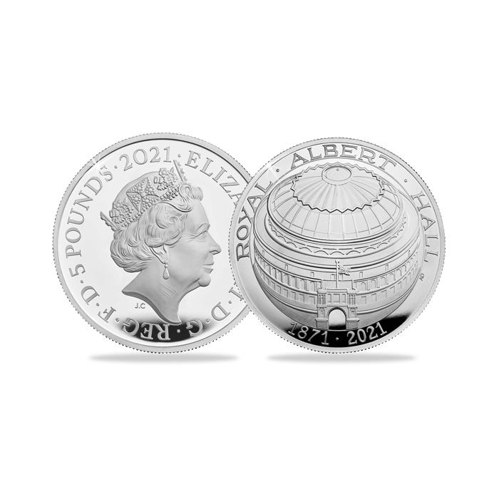 2021 UK Royal Albert Hall £5 Domed Silver Proof Coin