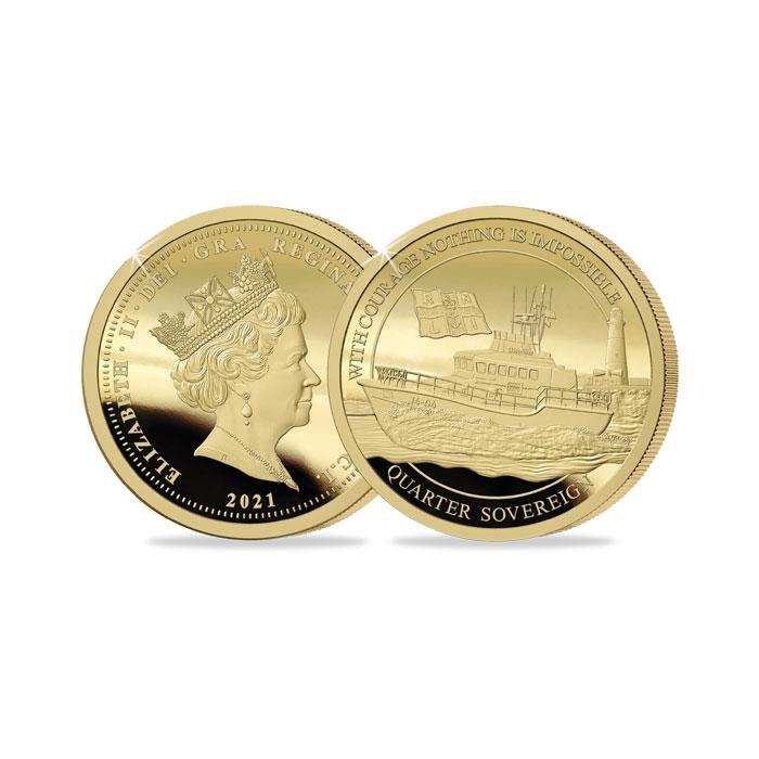 2021 RNLI Gold Proof Quarter Sovereign
