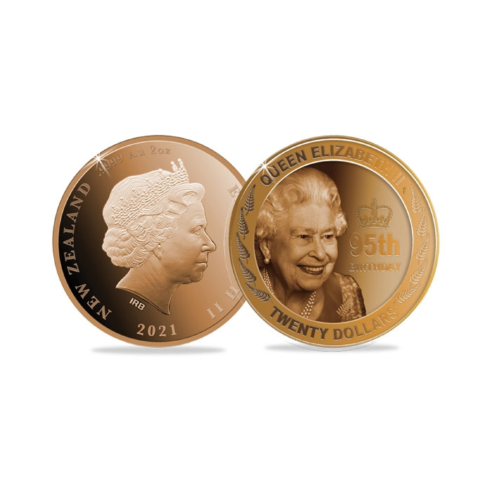 2021 New Zealand Queen's 95th Birthday Two Ounce Gold Proof Coin