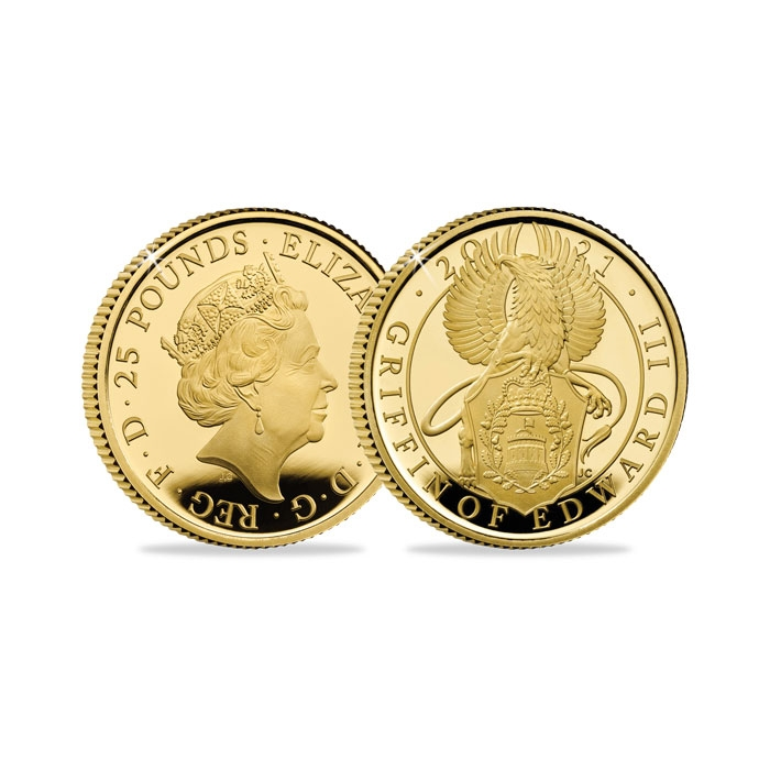 2021 United Kingdom Griffin Quarter Ounce Gold Proof Coin
