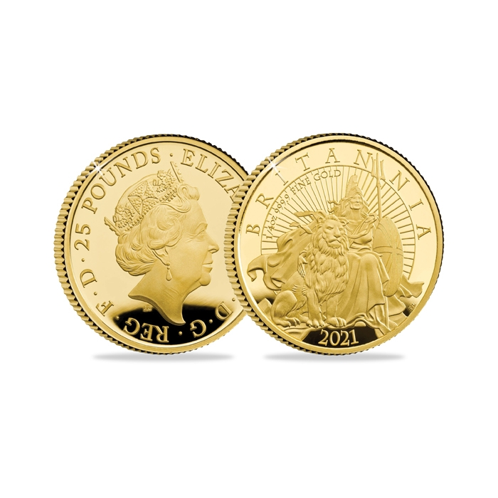 2021 United Kingdom Britannia Quarter Ounce Gold Proof Coin