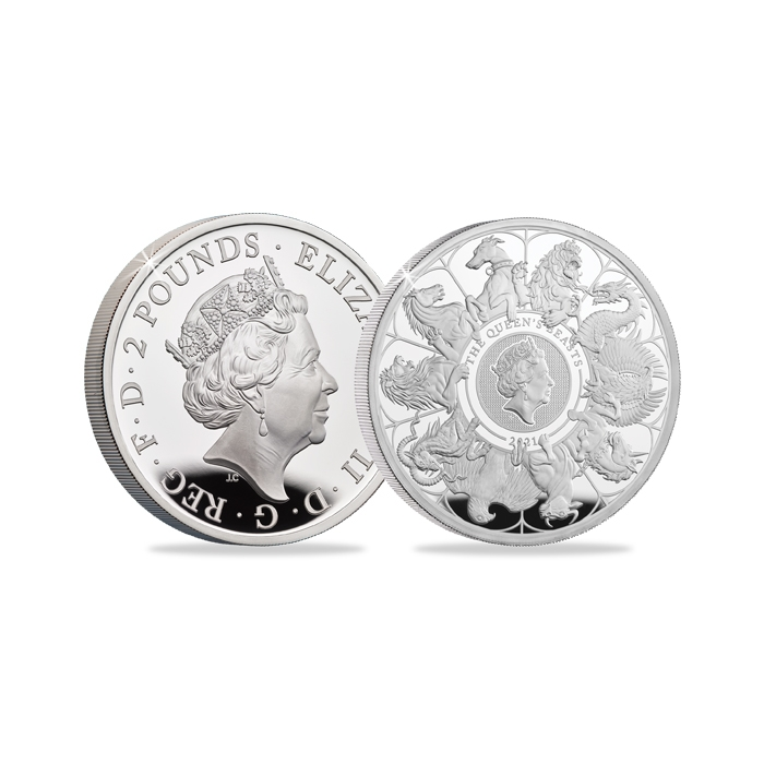 2021 United Kingdom Queen's Beasts Completer One Ounce Silver Coin