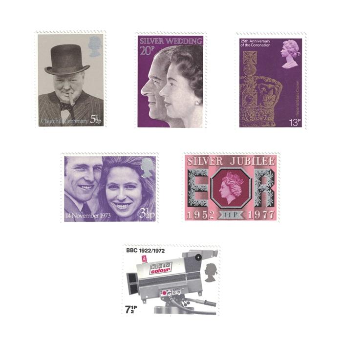 1971-81 Complete Unused Commemorative Stamp Collection