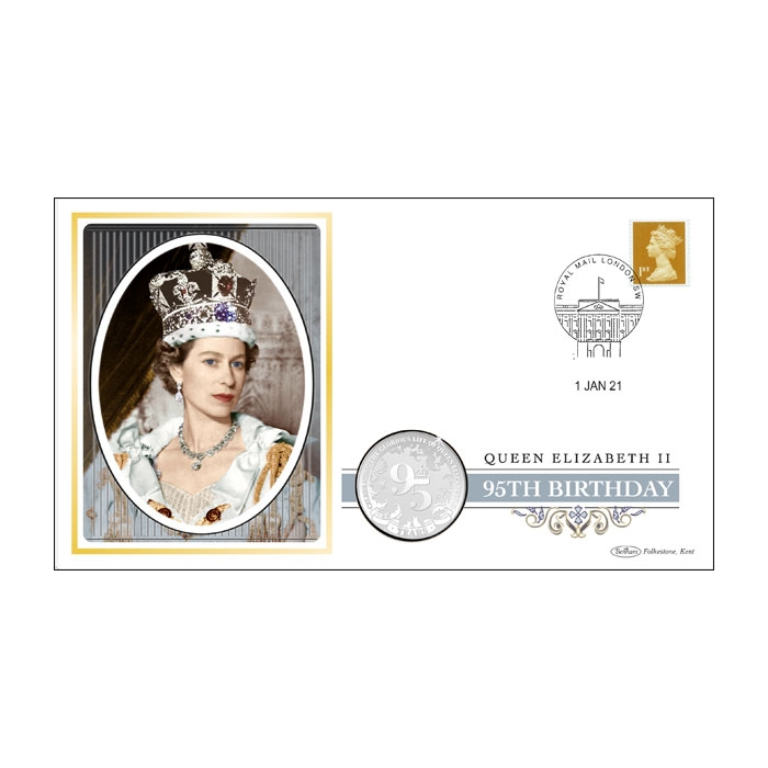 2021 Queen Elizabeth II's 95th Birthday Silver-Plated Coin Cover