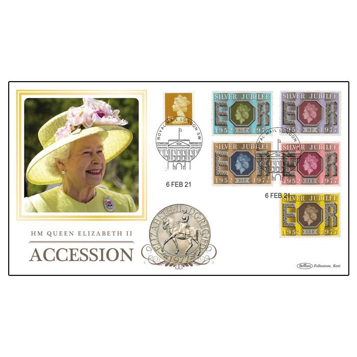 2021 Queen Elizabeth II's Accession Anniversary Coin Cover