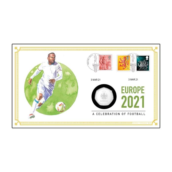 2021 Euro Football Coin Cover