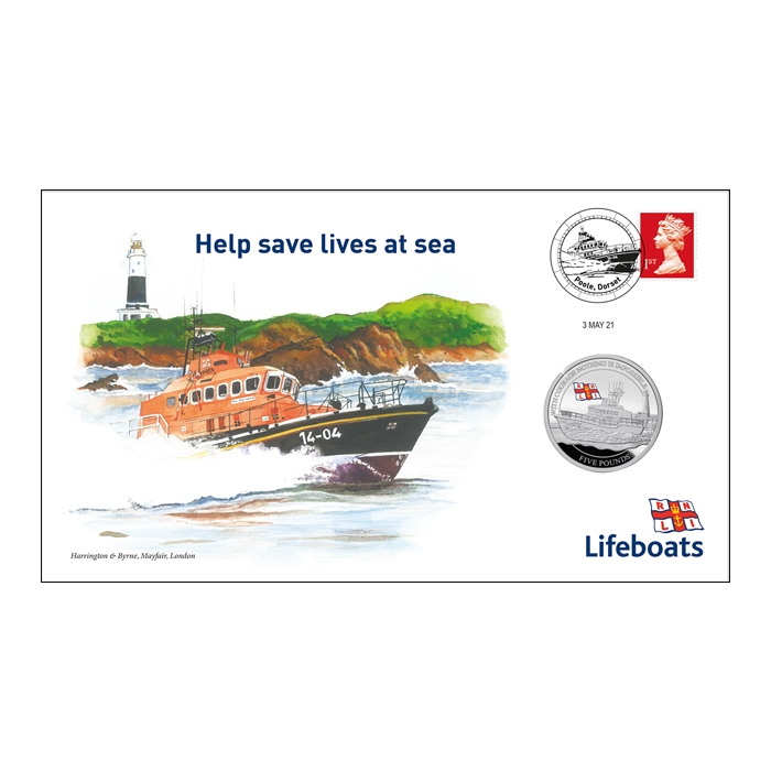2021 Royal National Lifeboat Institution Silver Proof £5 Coin Cover