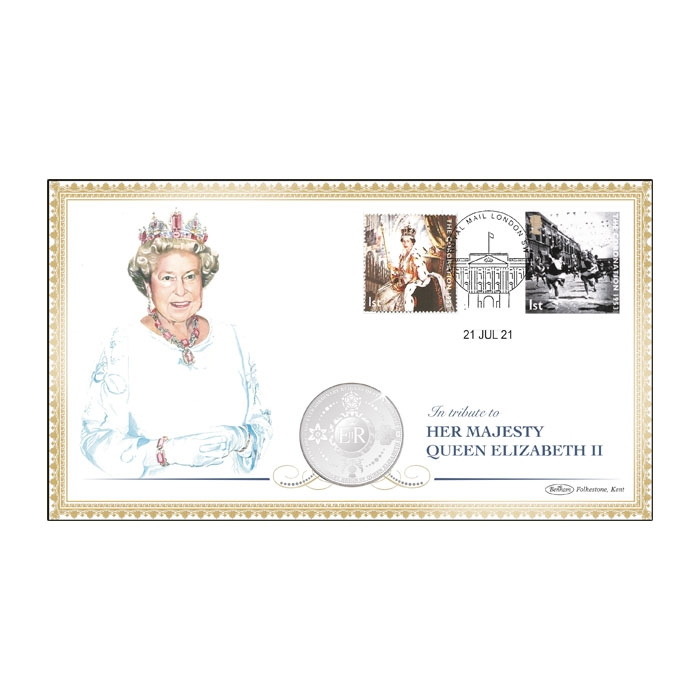 Queen Elizabeth II's Platinum Jubilee Silver-Plated Coin Cover (SI1)
