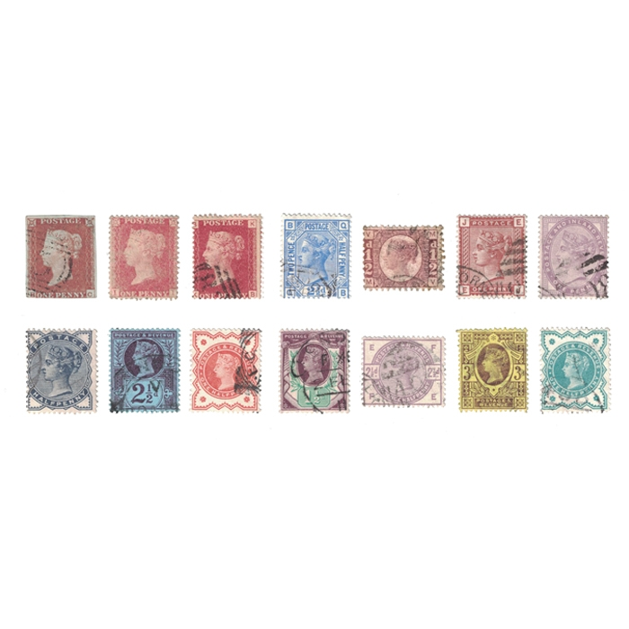Queen Victoria Used Stamp Collection