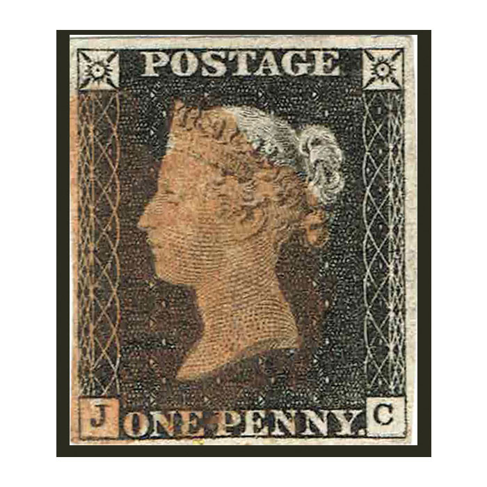 Penny Black Four Clear Margin Stamp