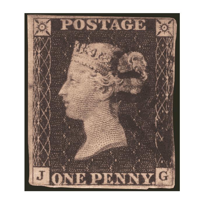 1840 Penny Black Stamp