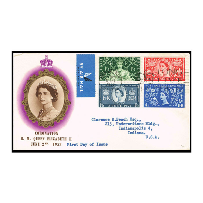 1953 Queen Elizabeth II Coronation First Day Cover